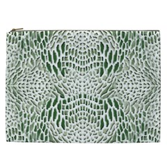 Green Reptile Scales Cosmetic Bag (xxl)