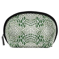 Green Reptile Scales Accessory Pouches (large)