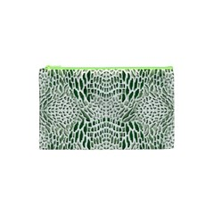 Green Reptile Scales Cosmetic Bag (xs)