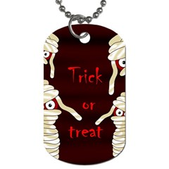 Halloween Mummy Dog Tag (one Side) by Valentinaart