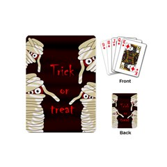 Halloween Mummy Playing Cards (mini)  by Valentinaart
