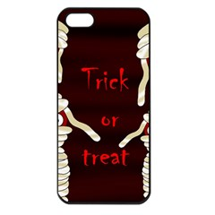 Halloween Mummy Apple Iphone 5 Seamless Case (black) by Valentinaart