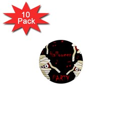 Halloween Mummy Party 1  Mini Magnet (10 Pack)  by Valentinaart
