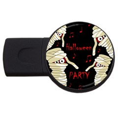 Halloween Mummy Party Usb Flash Drive Round (2 Gb)  by Valentinaart