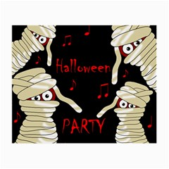 Halloween Mummy Party Small Glasses Cloth by Valentinaart