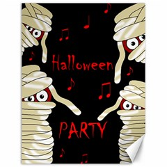 Halloween Mummy Party Canvas 12  X 16   by Valentinaart