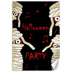 Halloween Mummy Party Canvas 12  X 18   by Valentinaart
