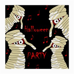 Halloween Mummy Party Medium Glasses Cloth (2 Side) by Valentinaart