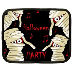 Halloween Mummy Party Netbook Case (xl)  by Valentinaart