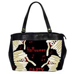Halloween Mummy Party Office Handbags (2 Sides)  by Valentinaart