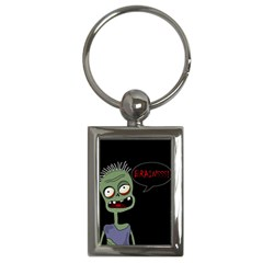 Halloween Zombie Key Chains (rectangle)  by Valentinaart
