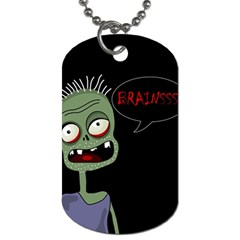 Halloween Zombie Dog Tag (two Sides) by Valentinaart