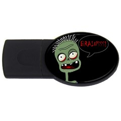 Halloween Zombie Usb Flash Drive Oval (4 Gb)  by Valentinaart