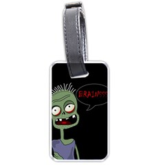 Halloween Zombie Luggage Tags (one Side)  by Valentinaart