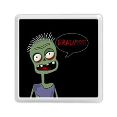 Halloween Zombie Memory Card Reader (square)  by Valentinaart