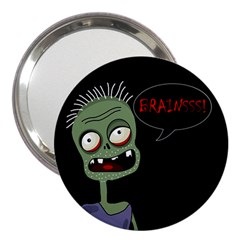 Halloween Zombie 3  Handbag Mirrors by Valentinaart