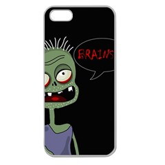 Halloween Zombie Apple Seamless Iphone 5 Case (clear) by Valentinaart