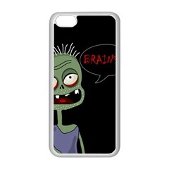 Halloween Zombie Apple Iphone 5c Seamless Case (white) by Valentinaart