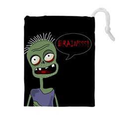 Halloween Zombie Drawstring Pouches (extra Large) by Valentinaart
