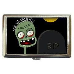 Halloween Zombie On The Cemetery Cigarette Money Cases by Valentinaart