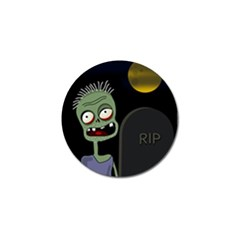 Halloween Zombie On The Cemetery Golf Ball Marker by Valentinaart