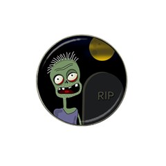 Halloween Zombie On The Cemetery Hat Clip Ball Marker (4 Pack) by Valentinaart