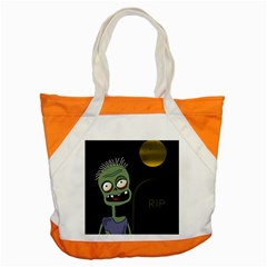 Halloween Zombie On The Cemetery Accent Tote Bag by Valentinaart