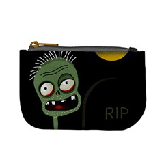 Halloween Zombie On The Cemetery Mini Coin Purses by Valentinaart