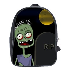 Halloween Zombie On The Cemetery School Bags(large)  by Valentinaart