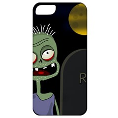 Halloween Zombie On The Cemetery Apple Iphone 5 Classic Hardshell Case by Valentinaart