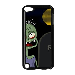 Halloween Zombie On The Cemetery Apple Ipod Touch 5 Case (black) by Valentinaart
