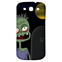 Halloween Zombie On The Cemetery Samsung Galaxy S3 S Iii Classic Hardshell Back Case by Valentinaart