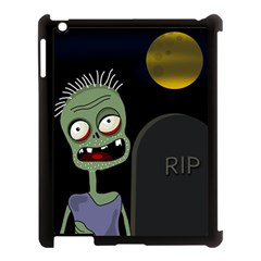 Halloween Zombie On The Cemetery Apple Ipad 3/4 Case (black) by Valentinaart