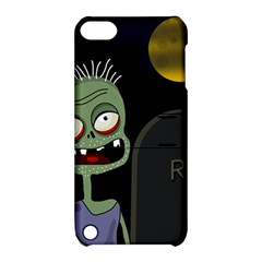 Halloween Zombie On The Cemetery Apple Ipod Touch 5 Hardshell Case With Stand by Valentinaart