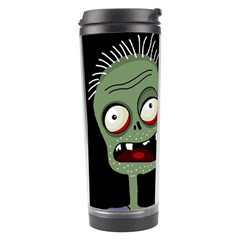 Halloween Zombie On The Cemetery Travel Tumbler by Valentinaart