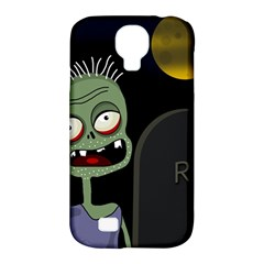 Halloween Zombie On The Cemetery Samsung Galaxy S4 Classic Hardshell Case (pc+silicone) by Valentinaart