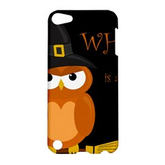Halloween Witch   Orange Owl Apple Ipod Touch 5 Hardshell Case by Valentinaart