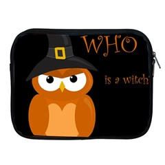 Halloween Witch   Orange Owl Apple Ipad 2/3/4 Zipper Cases by Valentinaart
