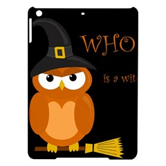 Halloween Witch   Orange Owl Ipad Air Hardshell Cases by Valentinaart