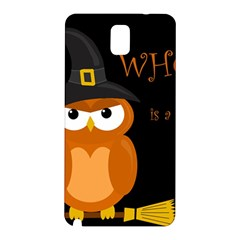 Halloween Witch   Orange Owl Samsung Galaxy Note 3 N9005 Hardshell Back Case by Valentinaart