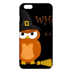 Halloween Witch   Orange Owl Iphone 6 Plus/6s Plus Tpu Case by Valentinaart