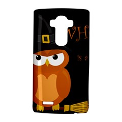 Halloween Witch   Orange Owl Lg G4 Hardshell Case by Valentinaart