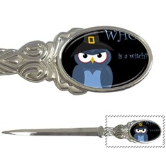 Halloween Witch   Blue Owl Letter Openers by Valentinaart