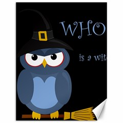 Halloween Witch   Blue Owl Canvas 12  X 16   by Valentinaart