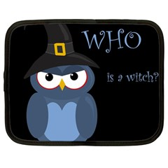 Halloween Witch   Blue Owl Netbook Case (large) by Valentinaart