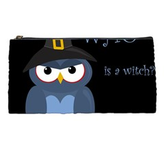 Halloween Witch   Blue Owl Pencil Cases by Valentinaart