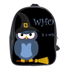 Halloween Witch   Blue Owl School Bags(large)