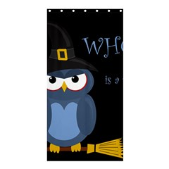 Halloween Witch   Blue Owl Shower Curtain 36  X 72  (stall)  by Valentinaart