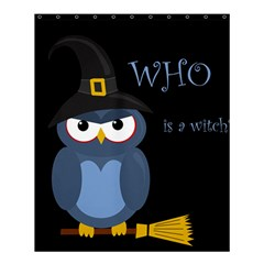 Halloween Witch   Blue Owl Shower Curtain 60  X 72  (medium)  by Valentinaart