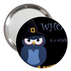 Halloween Witch   Blue Owl 3  Handbag Mirrors by Valentinaart